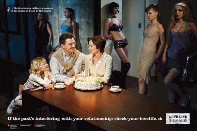 6. Прошлое накладывает отпечаток на будущие отношения безопасный секс, вич, презервативы, профилактика, реклама, спид