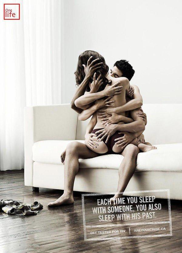 3. Каждый раз, когда ты спишь с кем-то, ты спишь с его прошлым безопасный секс, вич, презервативы, профилактика, реклама, спид