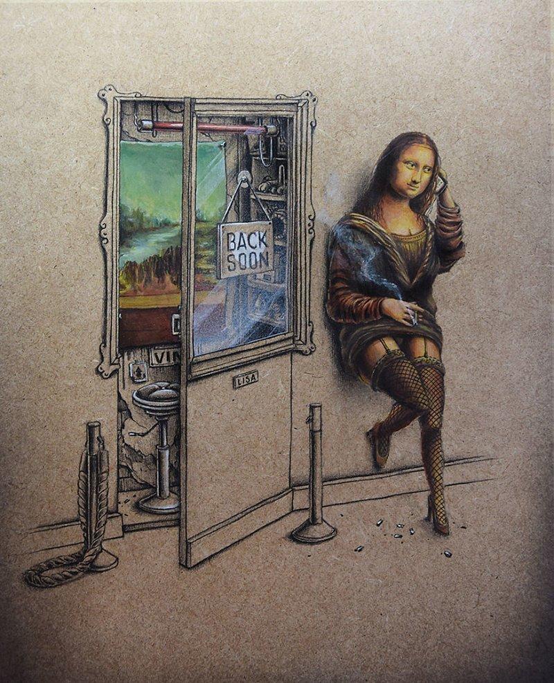 Мона Лиза («Мона Лиза», Леонардо да Винчи) Пез, забавно, искусство, картины, художник, шедевр