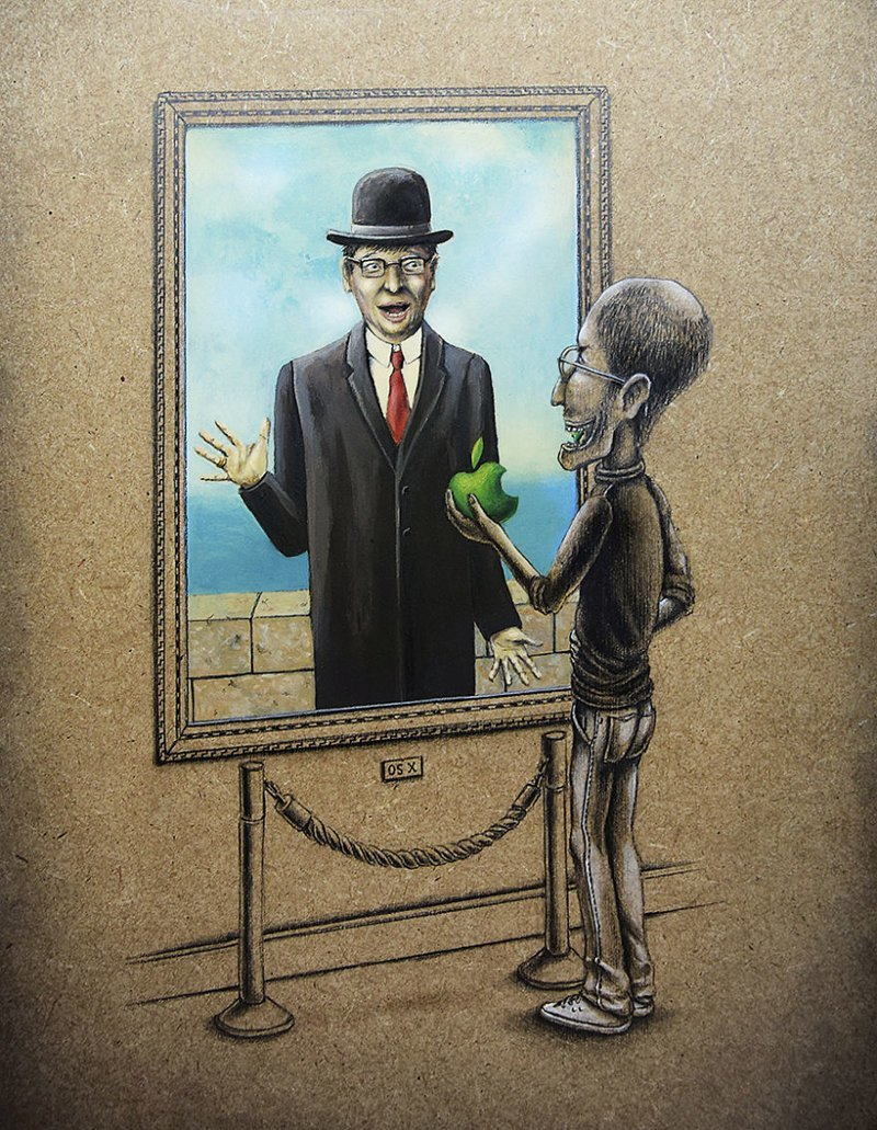Сюрприз! (Стив Джобс и «Сын человеческий», Рене Магритт) Пез, забавно, искусство, картины, художник, шедевр