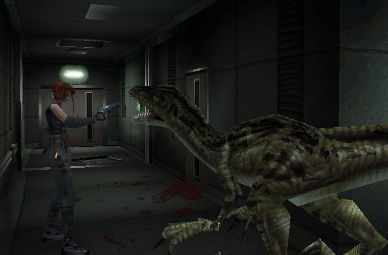 Dino Crisis (1999) - Playstation видеоигры, игры, компьютер, компьютерные игры, консоль, крипота, ужасы, хоррор-игры