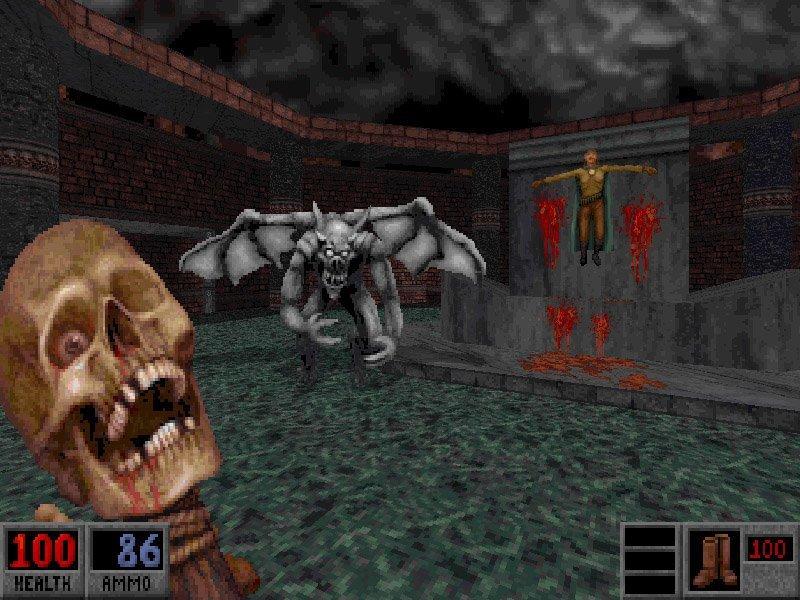 """Blood (англ. """"Кровь"""") (1997) - PC, Mac, DOS видеоигры, игры, компьютер, компьютерные игры, консоль, крипота, ужасы, хоррор-игры"""