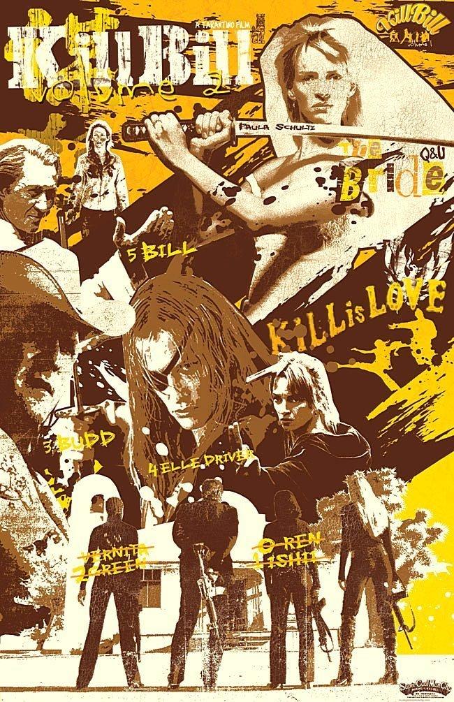 """""""Убить Билла"""". Фильмы 1, 2 квентин тарантино, постеры к фильмам, фильмы"""