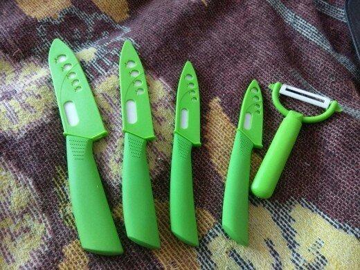 7. Набор керамических ножей aliexpress, вещи, гаджет, дом, женщины, интернет-магазин, подарки