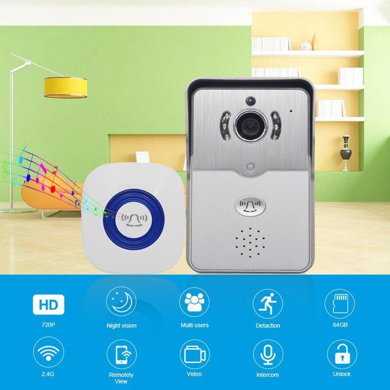 3. Видео-домофон с камерой, WiFi и датчиком движения aliexpress, вещи, гаджет, дом, женщины, интернет-магазин, подарки