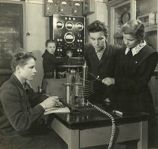 А это физика. Опыты с радиоволнами.  СССР, история, школа