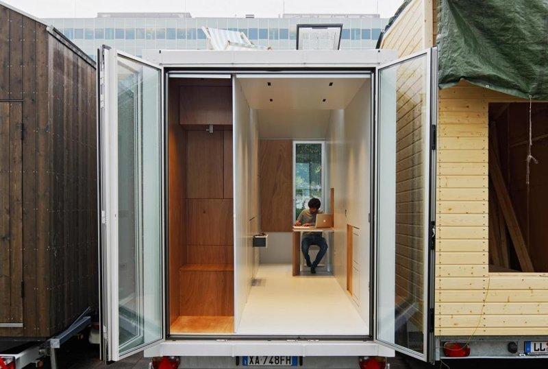"""""""Швейцарский армейский дом"""": В этом крошечном здании вся мебель скрывается в стенах в мире, дом, креатив, мебель, недвижимость"""