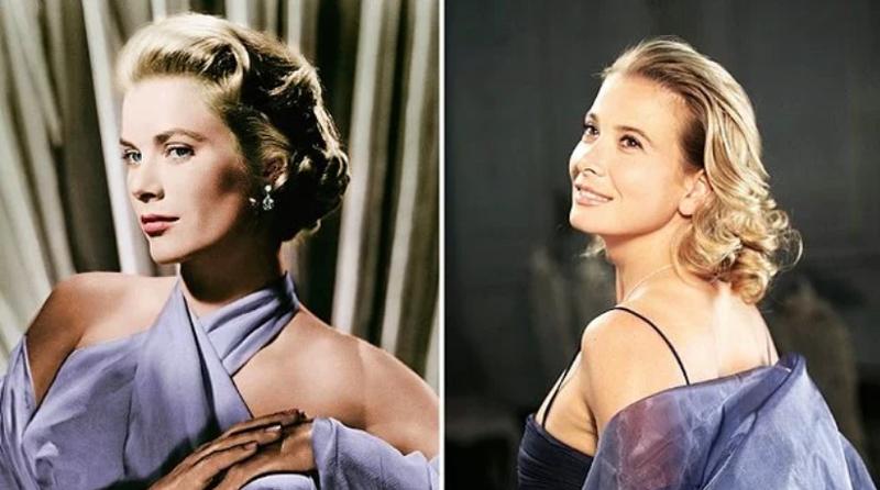 Грейс Келли и Юлия Высоцкая голливуд, двойники, знаменитости, похожие, сравнение, сходство