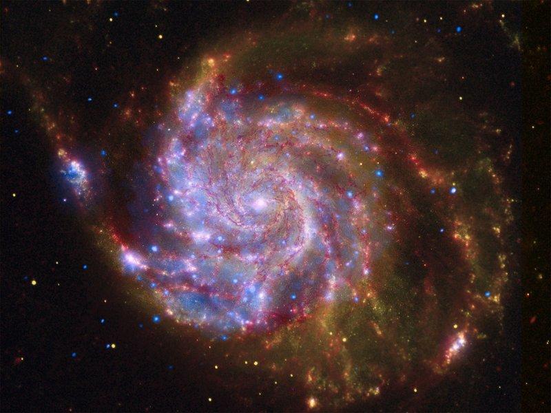 Спиральная галактикиа M101 интересное, космос, красота, наука, фото