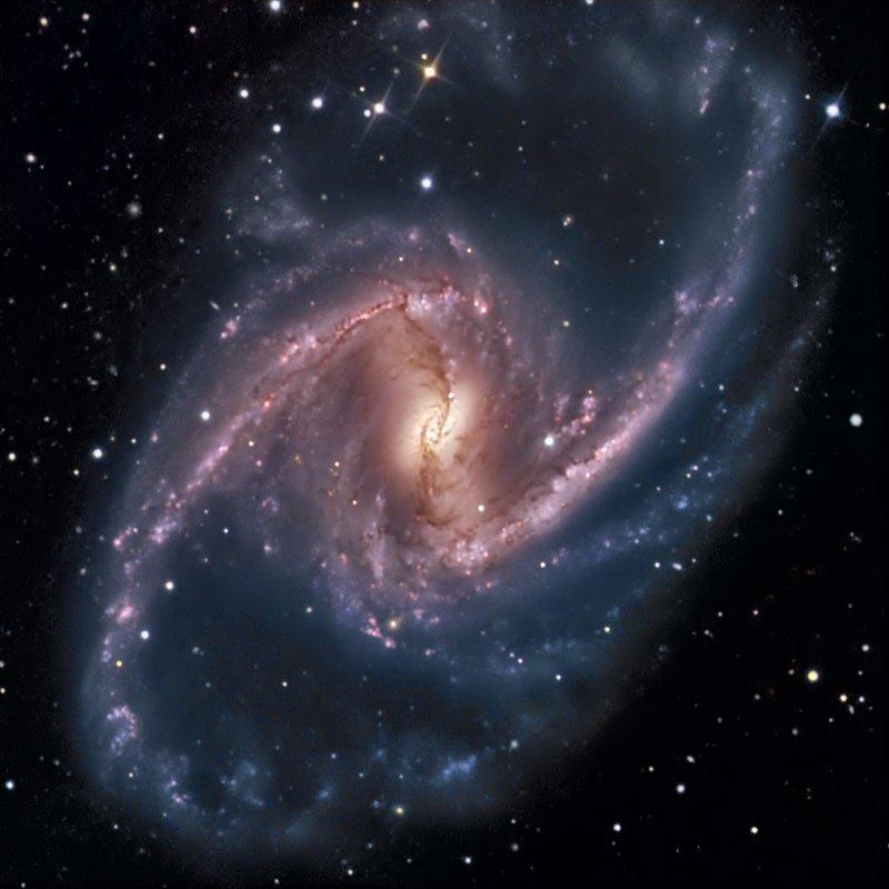 Спиральная галактика NGC 1365 интересное, космос, красота, наука, фото