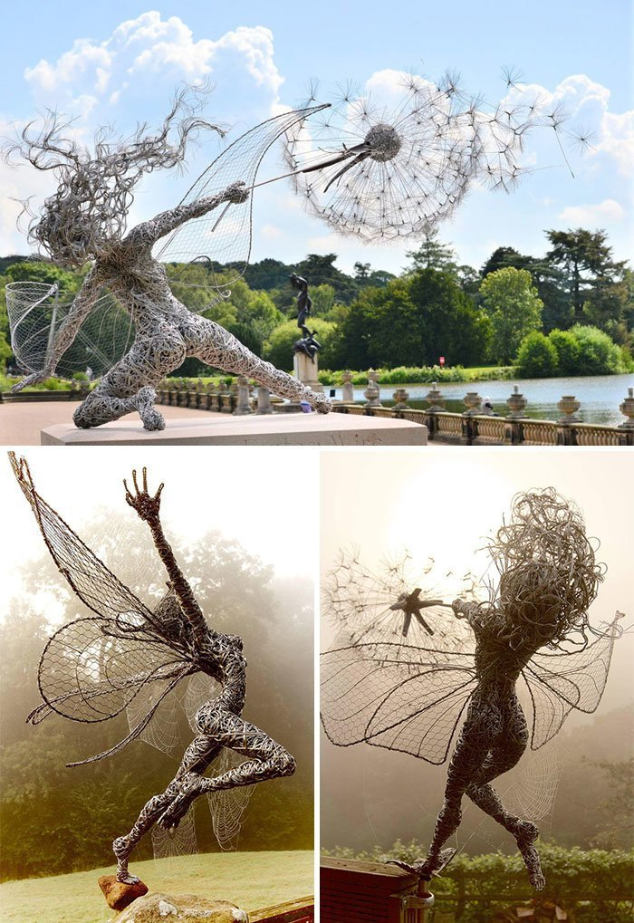 Fairies made of wire, Robin White