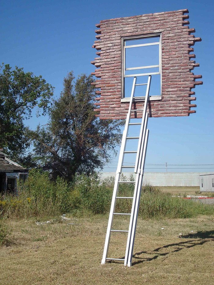 Window and ladder - Too late for help, Leandro Erlich