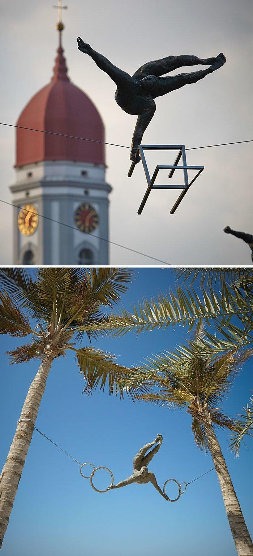 Sculptures balancing in the air - Jerzy Kedziora