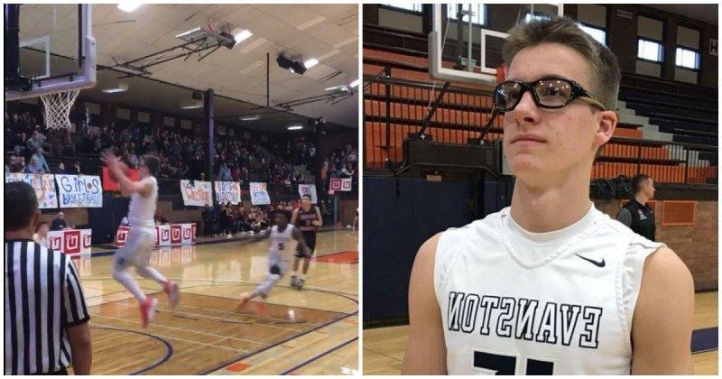 83858f60 15-летний подросток стал звездой школы после невероятного броска в  баскетбольное кольцо ynews, Блейк