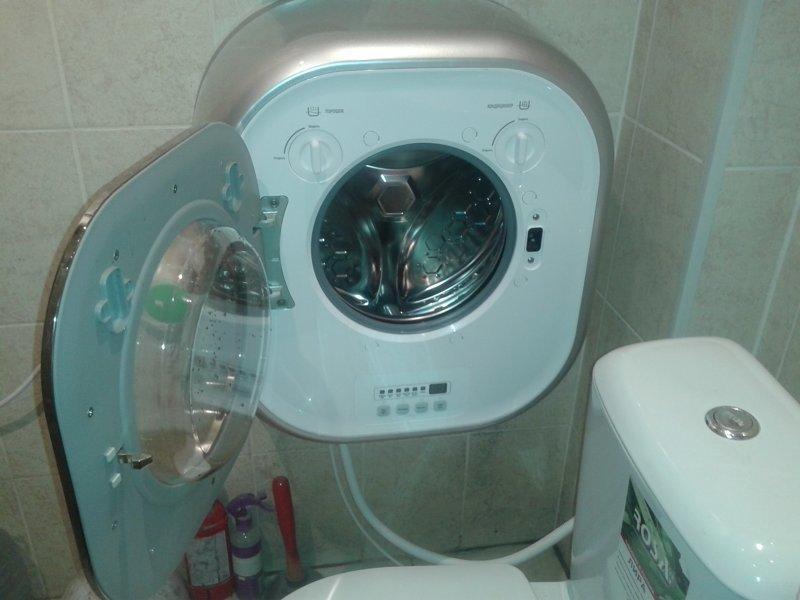 А вот придумали настенную стиральную машину Фабрика идей, ванная, идеи, компактность, маленькое помещение, экономность, эргономика