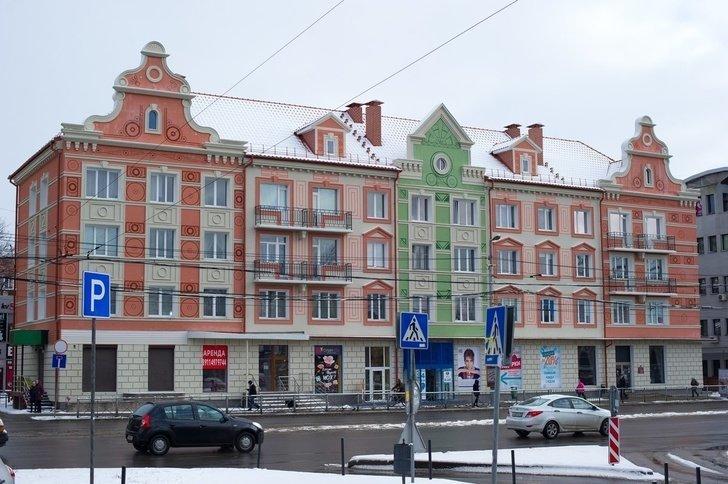 В Калининграде открыли все Хрущёвки на нечётной стороне Ленинского проспекта калининград, фоторепортаж, хрущёвка
