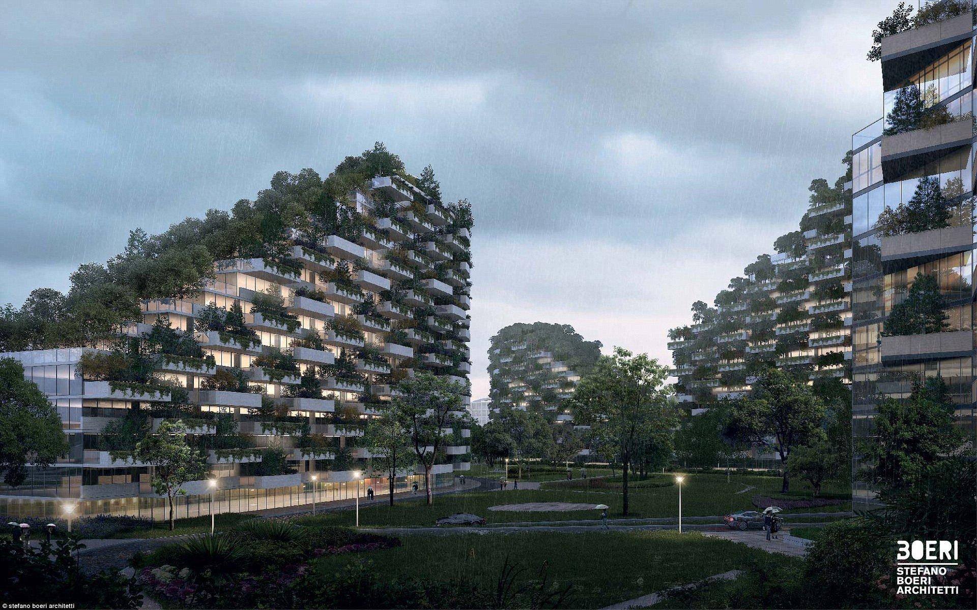 В Китае построят первый в мире город-лес ynews, архитектура будущего, будущее, город будущего, китай, китайцы молодцы, познавательно, эко-дом