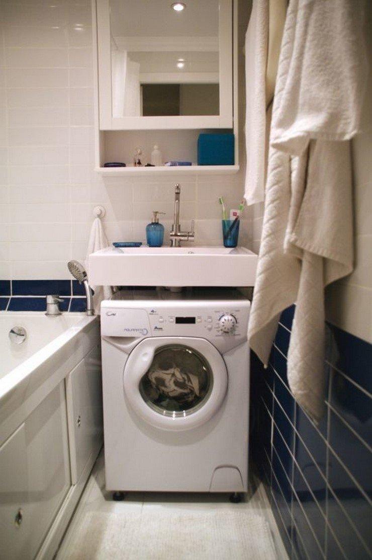 Отличная идея, как спрятать стиральную машину… дизайн, дом, идеи, небольшая квартира, фото