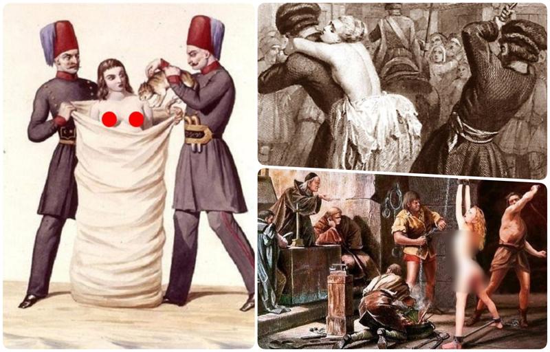 Что будет, если наставить мужу рога: как раньше жестоко наказывали жен за измену (14 фото)