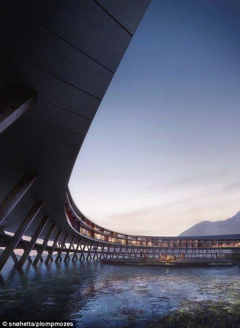 По задумке архитекторов из норвежского бюро Snøhetta, отель Svart  расположится к северу от полярного круга e6eeadec4ab