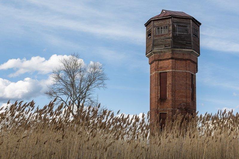 Водонапорная башня старые открытки