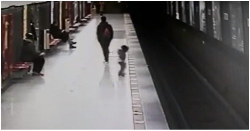 Студент спас двухлетнего малыша, упавшего на рельсы