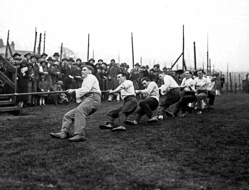 1. Перетягивание каната было на Олимпиадах в 1900–1920 годах интересно, олимпиада, спорт, фото