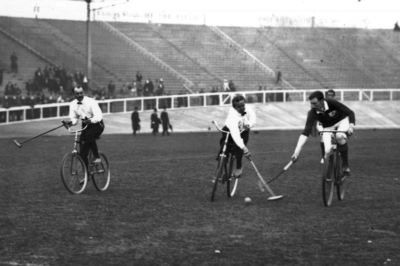 9. Поло на велосипедах прошло в 1908. Интересно участвовать в нем было не всем странам интересно, олимпиада, спорт, фото