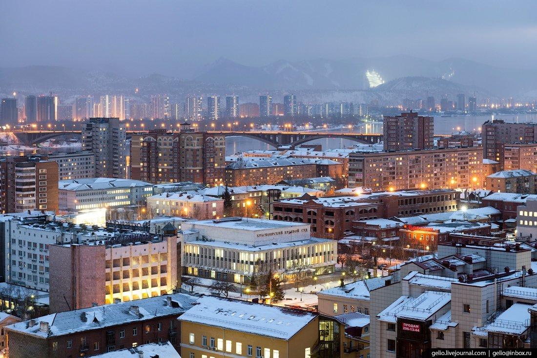 это далеко красноярск фото города зимой достопримечательностью города является