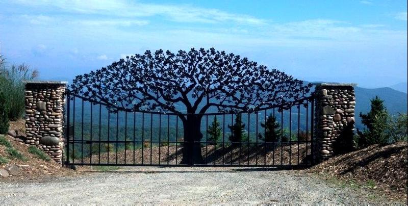 необычные ворота фото