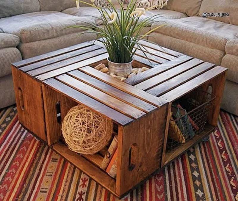 Старые ящики вместо свалки, вторая жизнь, вторая жизнь вещей, креатив, отличная идея, повторное использование