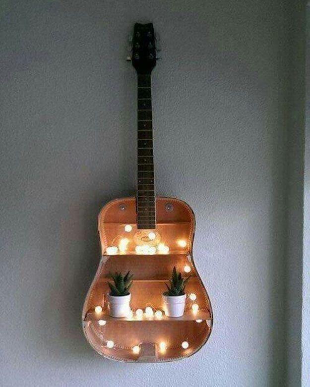 Полочки из старой гитары вместо свалки, вторая жизнь, вторая жизнь вещей, креатив, отличная идея, повторное использование
