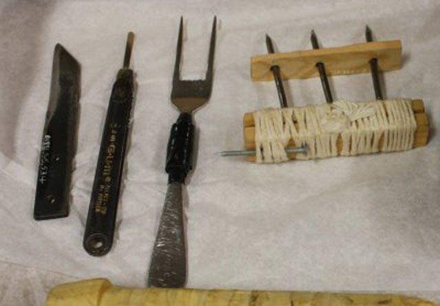 Колющее оружие с применением гвоздей, вилок Тюрьма, заключенные, зона, очумельцы, тюремные поделки
