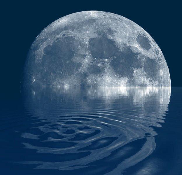 Луна вода картинки