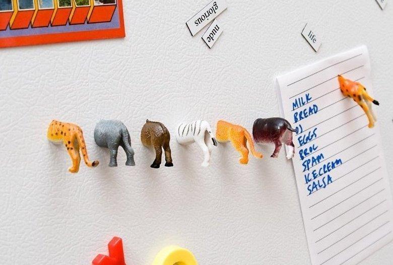 5. Животные могут стать полезными магнитами на холодильник интересно, на все руки мастер, поделки, рукоделие, своими руками, старые игрушки, фото