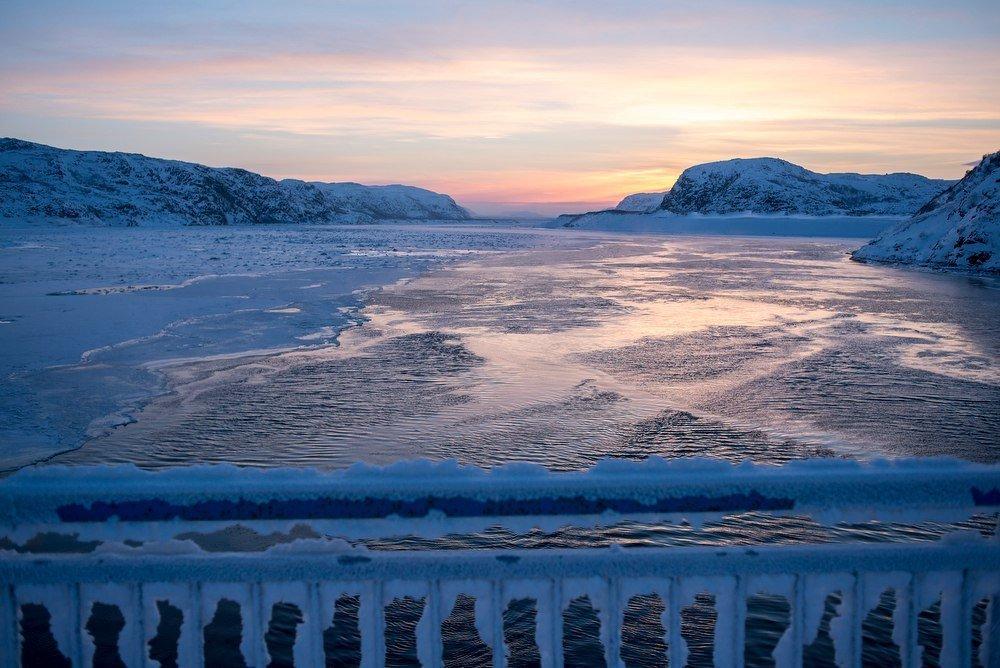 таких баренцево море фото зимой для