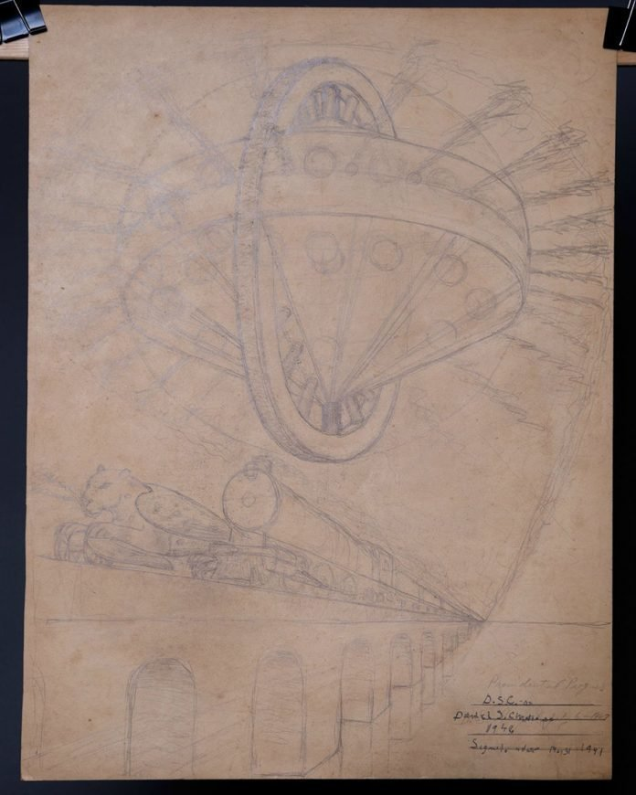 «Художник делает схематические эскизы, используя все свои умения в рисовании, чтобы попытаться отразить то, что он видел» в мире, вещи, находка, удивительно, ящик