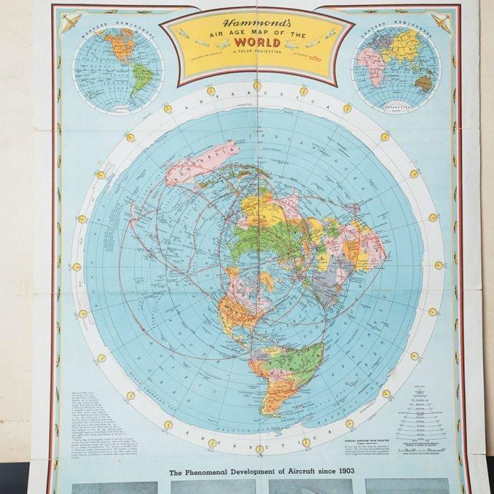 «Потрясающая карта авиамаршрутов» в мире, вещи, находка, удивительно, ящик