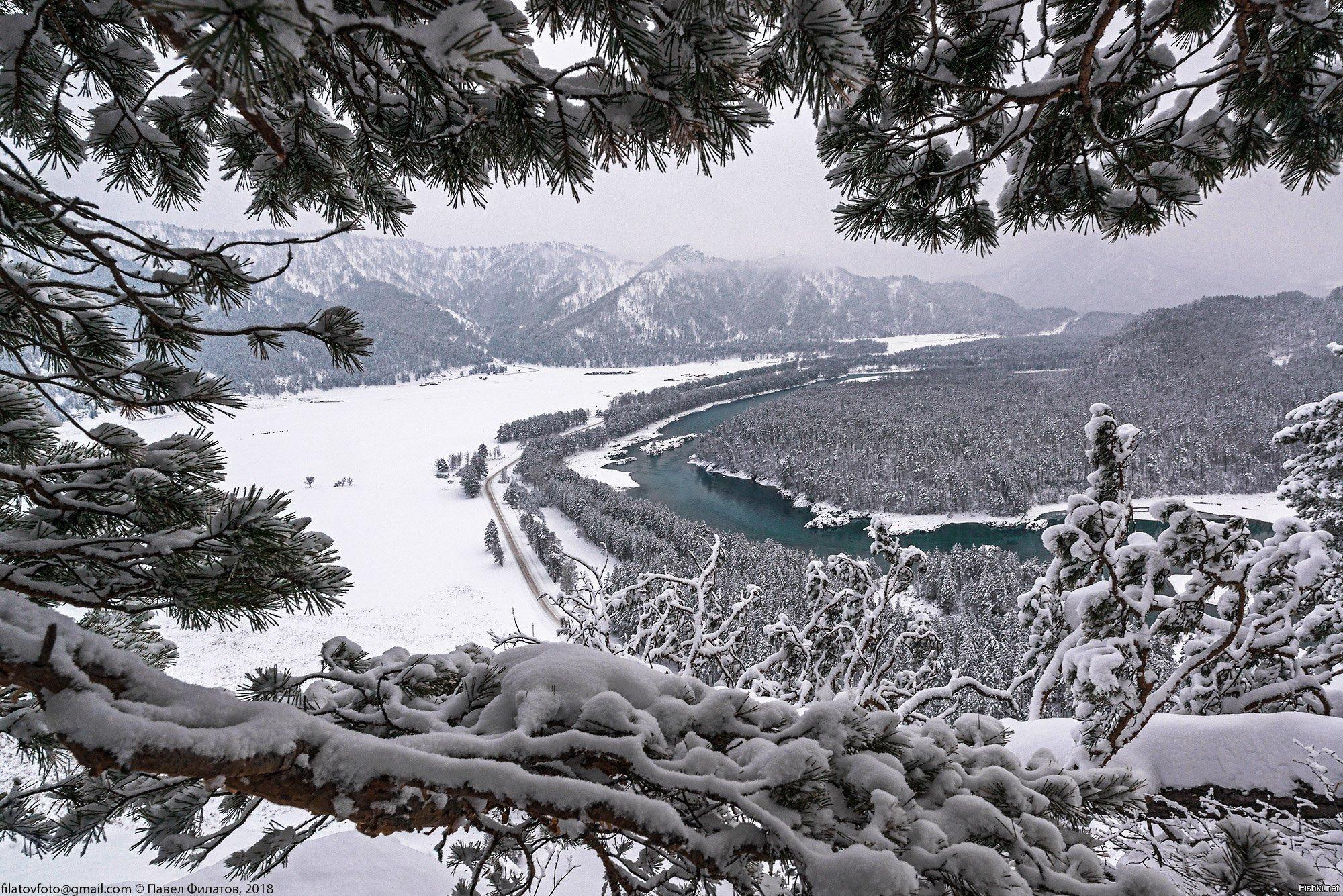 Зимние фото реки катунь