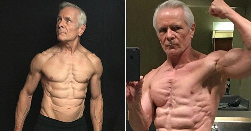 67-летний пенсионер стал фитнес-блогером и мотивирует весь Instagram Instagram, Instagram-аккаунты, блогер, пожилые, спорт, фитнес, фитнес мотивация, фото