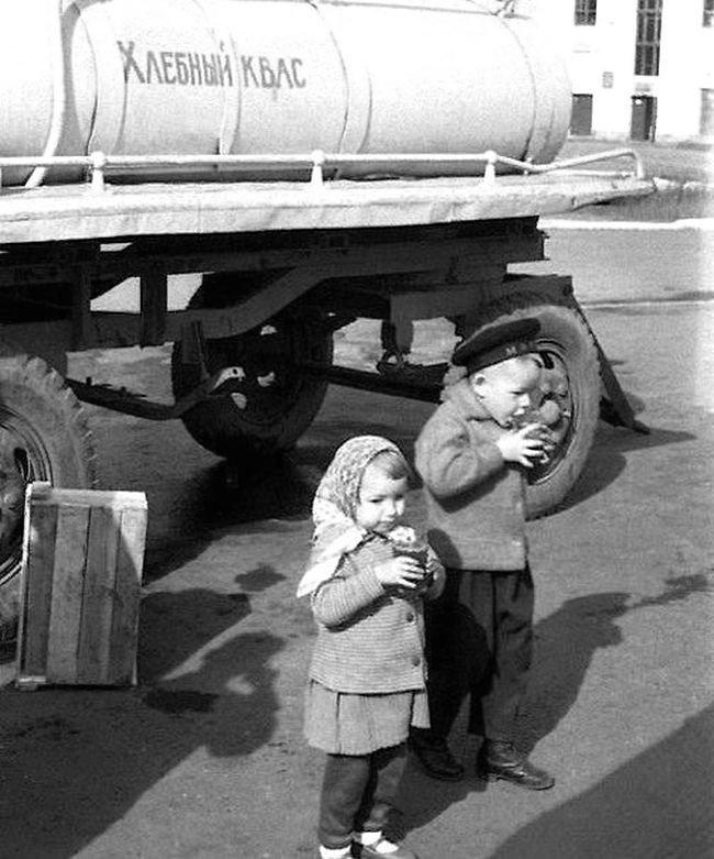 Хлебный квас СССР, детство, фотографии