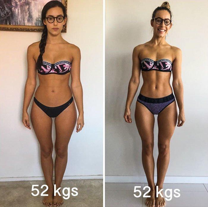 15. 52 кг до и после, качаем, преображение, спорт, спортзал, спортивные девушки, фитнес, фитнес мотивация фото