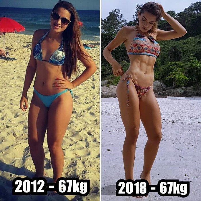 7. И вообще пора выбросить эти дурацкие весы! до и после, качаем, преображение, спорт, спортзал, спортивные девушки, фитнес, фитнес мотивация фото