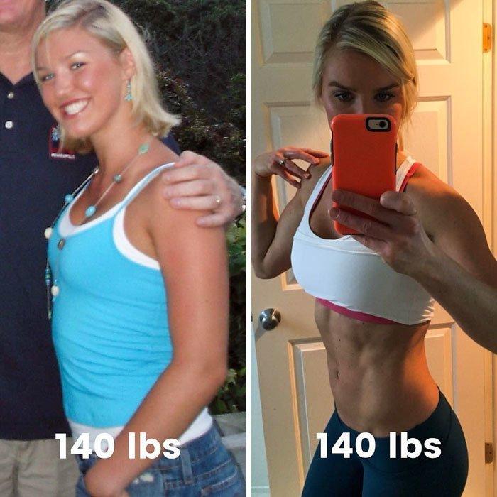 13. 64 кг. Ну что тут говорить, все и так видно до и после, качаем, преображение, спорт, спортзал, спортивные девушки, фитнес, фитнес мотивация фото