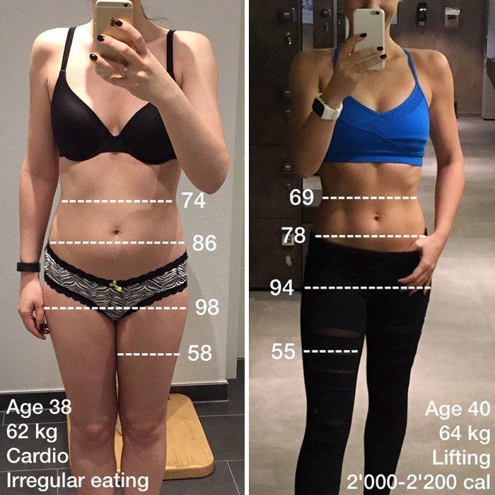 3. Вес может быть обманчивым, возраст не значит ничего, а здоровье выглядит по-разному до и после, качаем, преображение, спорт, спортзал, спортивные девушки, фитнес, фитнес мотивация фото
