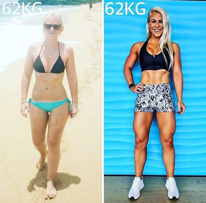 23. 62 кг. Вот это да! до и после, качаем, преображение, спорт, спортзал, спортивные девушки, фитнес, фитнес мотивация фото