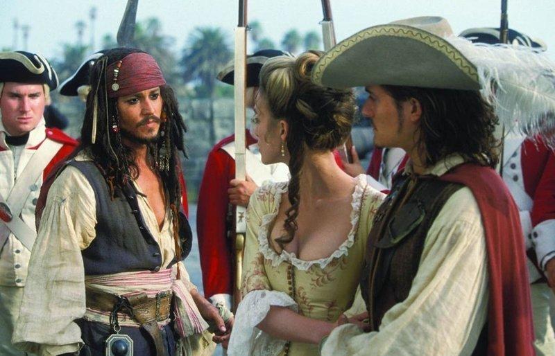 Пираты Карибского моря: Проклятие Чёрной Жемчужины (2003) интересно, кино, фильм