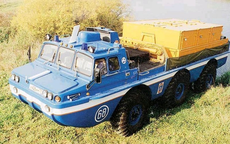 Поисково-эвакуационные вездеходы семейства ЗИЛ-4906 «Синяя птица» ЗИЛ-4906 «Синяя птица», авто, вездеход, интересное