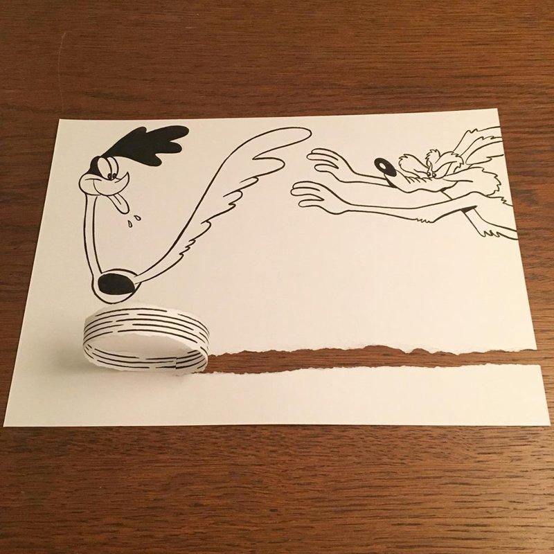 Прикольные рисунки из бумаги, рождением дочери