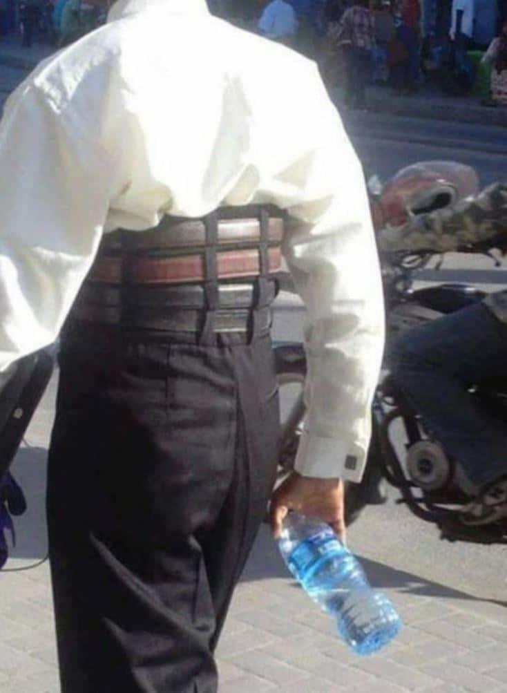 Когда очень, очень сомневаешься, что брюки не спадут креатив, люди, мода, одежда, чудики, юмор